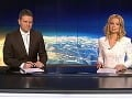 Marianna Ďurianová v Televíznych novinách s Jarom Zápalom