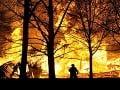 Požiar pri Kamennom Mlyne: Pri hasení lesa zasahovalo až 17 hasičov