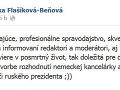 Monika Flašíková-Beňová sa na sociálnej sieti pravidelne naváža do Zlatice Puškárovej.