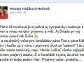 Ešte pred začatím diskusie si Monika Flašíková-Beňová nezabudla rypnúť do Zlatice Puškárovej na sociálnej sieti.
