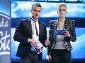 Leoš Mareš a Adela Vinczeová spolu moderovali SuperStar v roku 2009.
