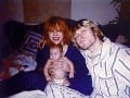 Frances Cobain s matkou a otcom ako bábätko