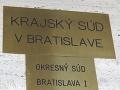 Protesty v oblasti súdnictva: Proti zmenám je aj plénum Krajského súdu v Bratislave