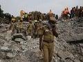 Zrútenie budovy v indickom Čennaj
