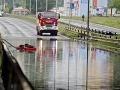 Podjazd pod Prístavným mostom je zaplavený, dopravu odkláňajú!