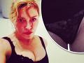 Madonna na webe ako prostitútka: Stlačené prsia a holý rozkrok v čipke!
