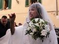 Pompézna svadba talianskej krásavice: Zahalená nevesta ohúrila v honosnej róbe!