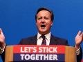 Cameron naliehavo vyzval Škótov, aby nerozbíjali Spojené kráľovstvo