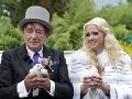 Svadobné fotky Richarda Lugnera a jeho niekdajšej lásky.
