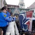 Slovan oslávil titul s fanúšikmi