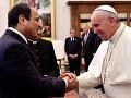 Pápež František prijal na súkromnej audiencii egyptského prezidenta
