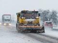 Slovenské cesty sú zjazdné, ale pozor na kašovitý sneh