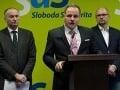 Droba a Jurzyca vstupujú do klubu SaS: Treba urobiť hrubú čiaru, tvrdí Sulík