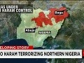 Územie ovládane teroristami z Boko Haram