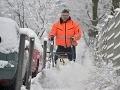 Slovensko dnes pokryl sneh