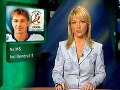 Martina Šimkovičová v kresle športových novín