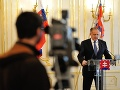 Andrej Kiska počas oficiálneho vyhlásenia k referendu v Prezidentskom paláci.
