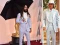 Herec a spevák Jared Leto pripomínal outfitom postavu z filmu Blbý a blbší.