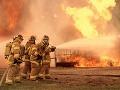 Masívny požiar na tržnici
