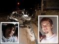 FOTO Obrovská tragédia v Hnúšti: Traja mladí na mieste mŕtvi, v rýchlosti 160 km/h vpálili do stĺpa!