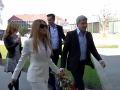 Štefan Skrúcaný a Erika Judínyová vo svadobný deň