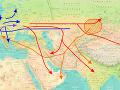 Postup migrácie haploskupiny R1a pred 20 až 6-tisíc rokmi p. n. l