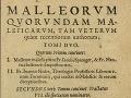 Kniha MALLEUS MALEFICARUM alebo Kladivo na čarodejnice (vydanie z roku 1582)