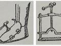 Prístroj na pomalé vŕtanie priehlavku na nohe a lis s ostrými nožmi, v ktorom sa noha pomaly drvila.