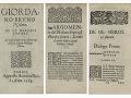 GIORDANO Bruno – De gl heroici furori. Perigi , A. Baius 1585