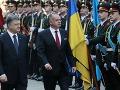 Andrej Kiska a Petro Porošenko v Kyjeve