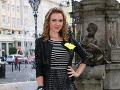 Moderátorka Lucia Forman Habancová si na galavečer zvolila tmavé šaty.