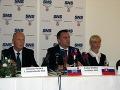 Jaroslav Paška, predseda strany Andrej Danko a podpredsedníčka Martina Stodolová