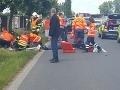 FOTO veľkej drámy: Svedok chcel pomôcť zranenému motorkárovi, keď ho zbadal, dostal infarkt!