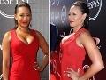 Melanie Brown pútala na červenom koberci pozornosť vďaka ulízanému účesu a provokatívnym šatám