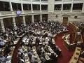 Stretnutie gréckeho parlamentu