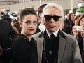 Kristen Stewart a Karl Lagerfeld