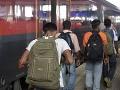 Migranti sa chceli vlakom