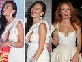 Biele šaty odhalili bujný dekolt novej tváre Fashion TV Dominiky Ducovej. Hlboký výstrih moderátorky Lenky Vacvalovej zas ukázal jej čudne opálené prednosti.