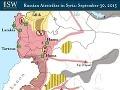 Rozdelenie Sýrie podľa toho, kde aká skupina prevzala nadvládu