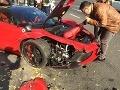 Objavilo sa VIDEO kurióznej nehody slovenského Ferrari v Budapešti: Vyšlo zo servisu a bum!