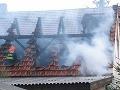 Dom na Istrijskej ulici v Bratislave zachvátil požiar