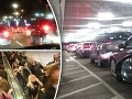 Totálne šialenstvo na parkovisku pri obchodnom centre: FOTO Ľudia trčali v zápche 6 hodín!