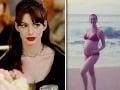 Diabol nosí Pradu, tehotná herečka mini bikiny: Aha, nárastlo jej nielen bruško!