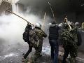 Násilný protest v Grécku