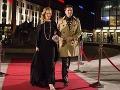 Herec Marek Majeský tiež prišiel s manželkou.