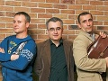 Peter Batthyány s Igorom Adamcom a Martinom Vanekom