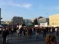 Protesty v Grécku