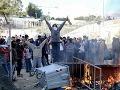 Na ostrove Lesbos protestovali