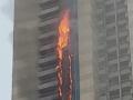 Ohnivé peklo v Dubaji: VIDEO Mrakodrap zachvátili plamene!