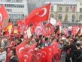 Masová demonštrácia stúpencov tureckého prezidenta